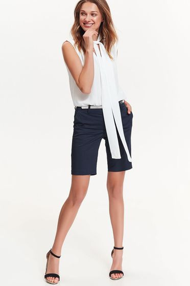 Bluza dama Top Secret alba eleganta cu croi larg din material vaporos fara maneci