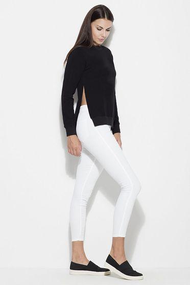 Bluza dama Katrus neagra casual cu croi larg material subtire cu maneci lungi