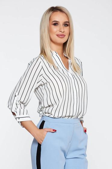 Bluza dama StarShinerS alba eleganta cu croi larg material fin la atingere