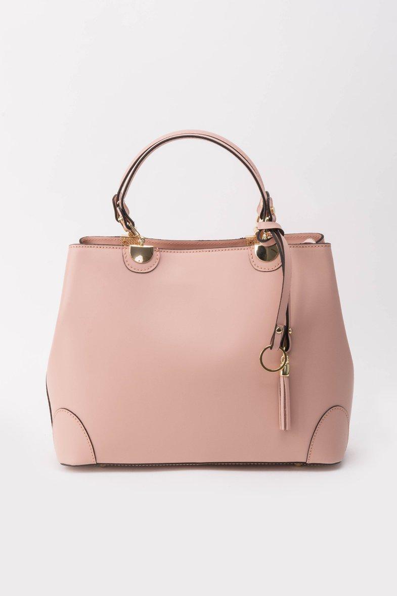 Geanta dama rosa office din piele naturala cu maner lung reglabil