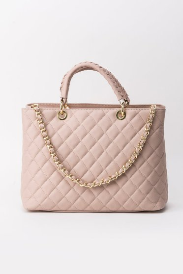Geanta dama rosa office din material matlasat din piele naturala