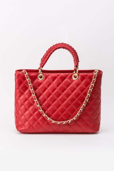 Geanta dama rosie office din piele naturala matlasata cu maner lung tip lantisor