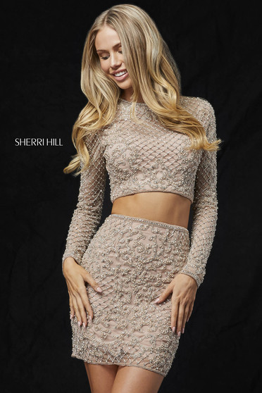 Rochie Sherri Hill 52090 nude