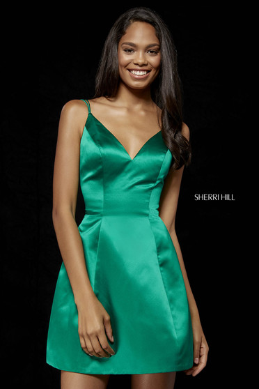 Rochie Sherri Hill 52111 emerald