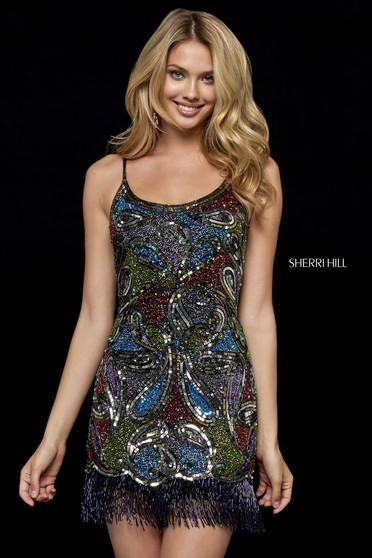 Rochie Sherri Hill 52127 black/multi