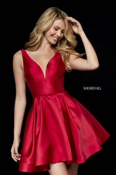 Rochie Sherri Hill 52179 red