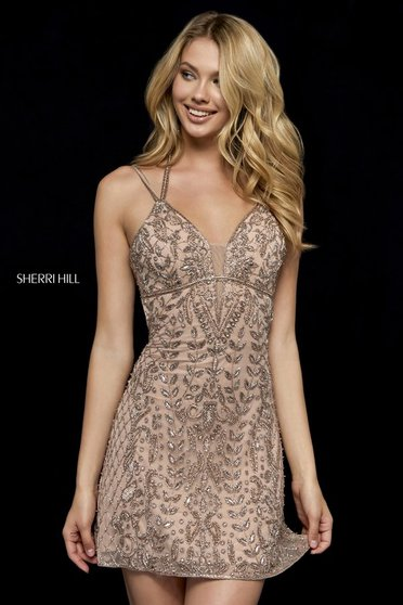 Rochie Sherri Hill 52200 Nude