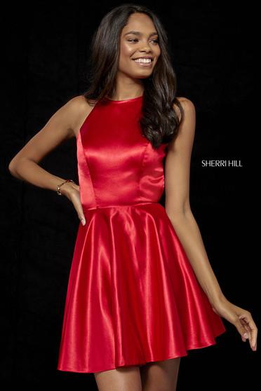 Rochie Sherri Hill 52254 red