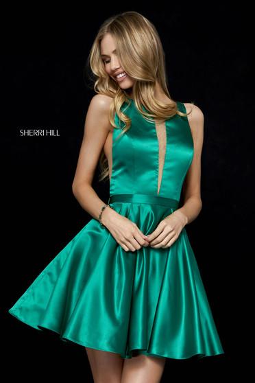 Rochie Sherri Hill 52293 emerald