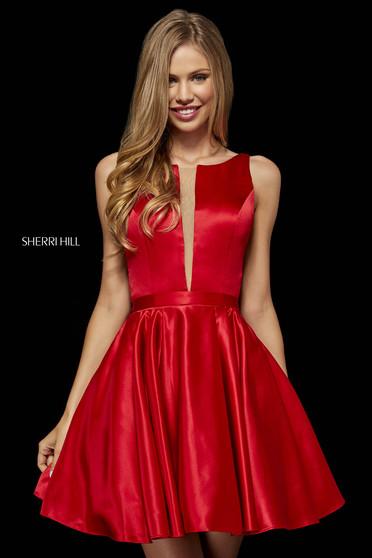 Rochie Sherri Hill 52293 red