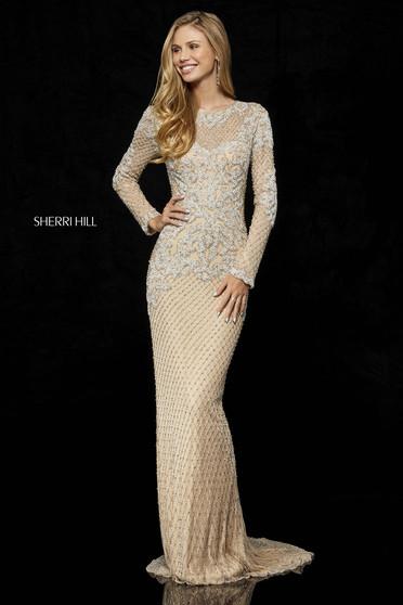 Rochie Sherri Hill 52313 nude/silver