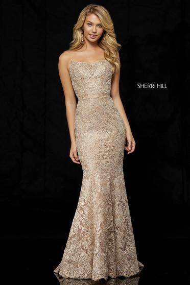 Rochie Sherri Hill 52348 rose gold/silver