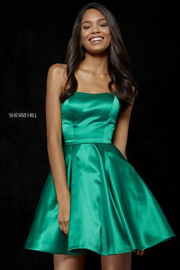 Rochie Sherri Hill 52397 emerald