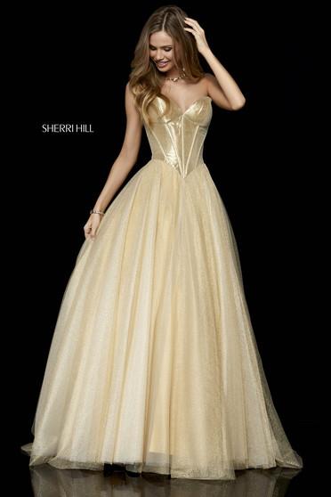 Rochie Sherri Hill 52265 gold