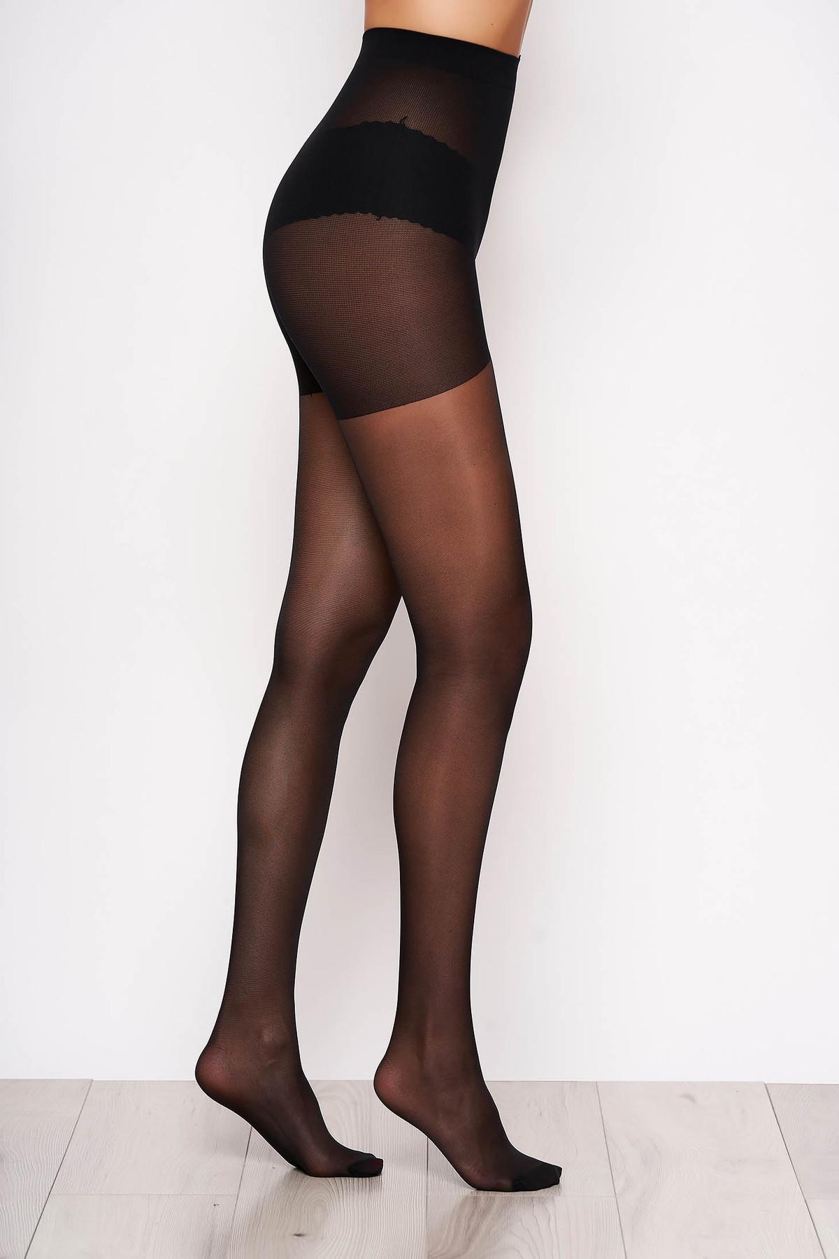Dres dama negru modelator 20 den cu banda anti-alunecare