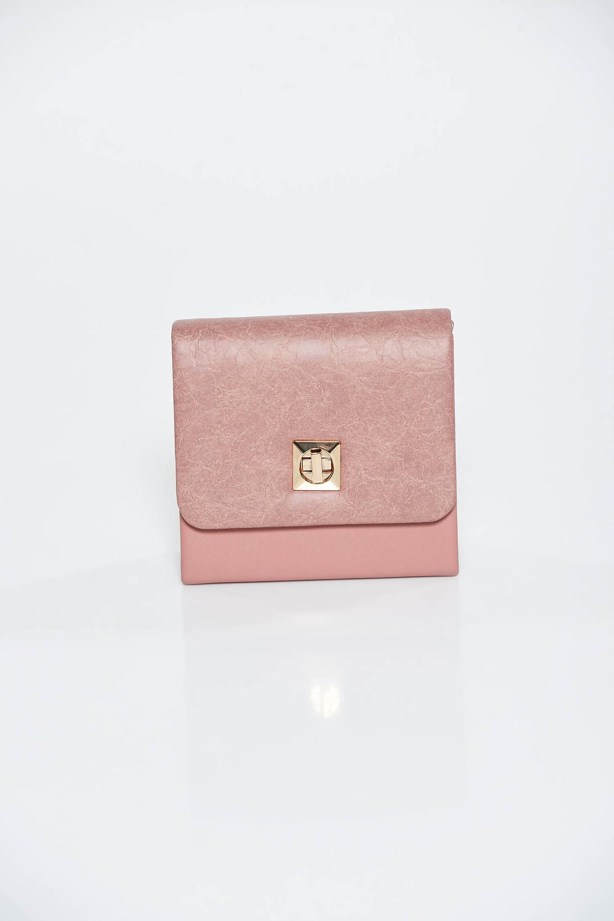 Geanta dama rosa plic de ocazie din piele ecologica