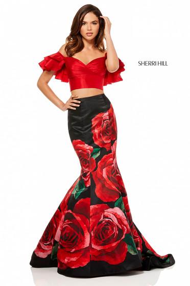 Rochie Sherri Hill 52470 Black