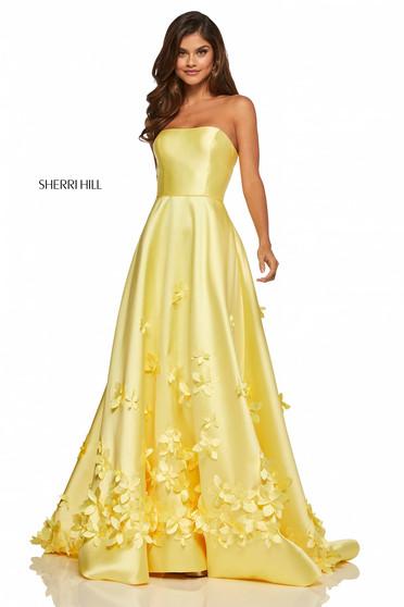 Rochie Sherri Hill 52582 Yellow
