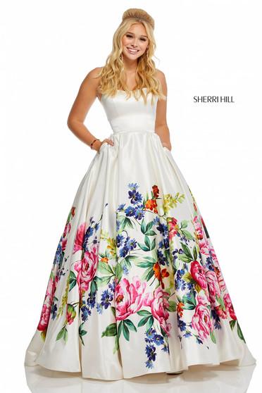 Rochie Sherri Hill 52626 White