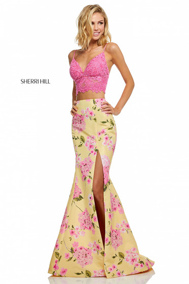 Rochie Sherri Hill 52635 Yellow