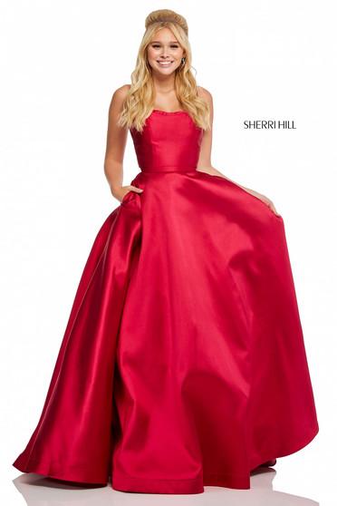 Rochie Sherri Hill 52715 Red