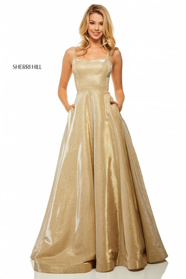 Rochie Sherri Hill 52716 Gold