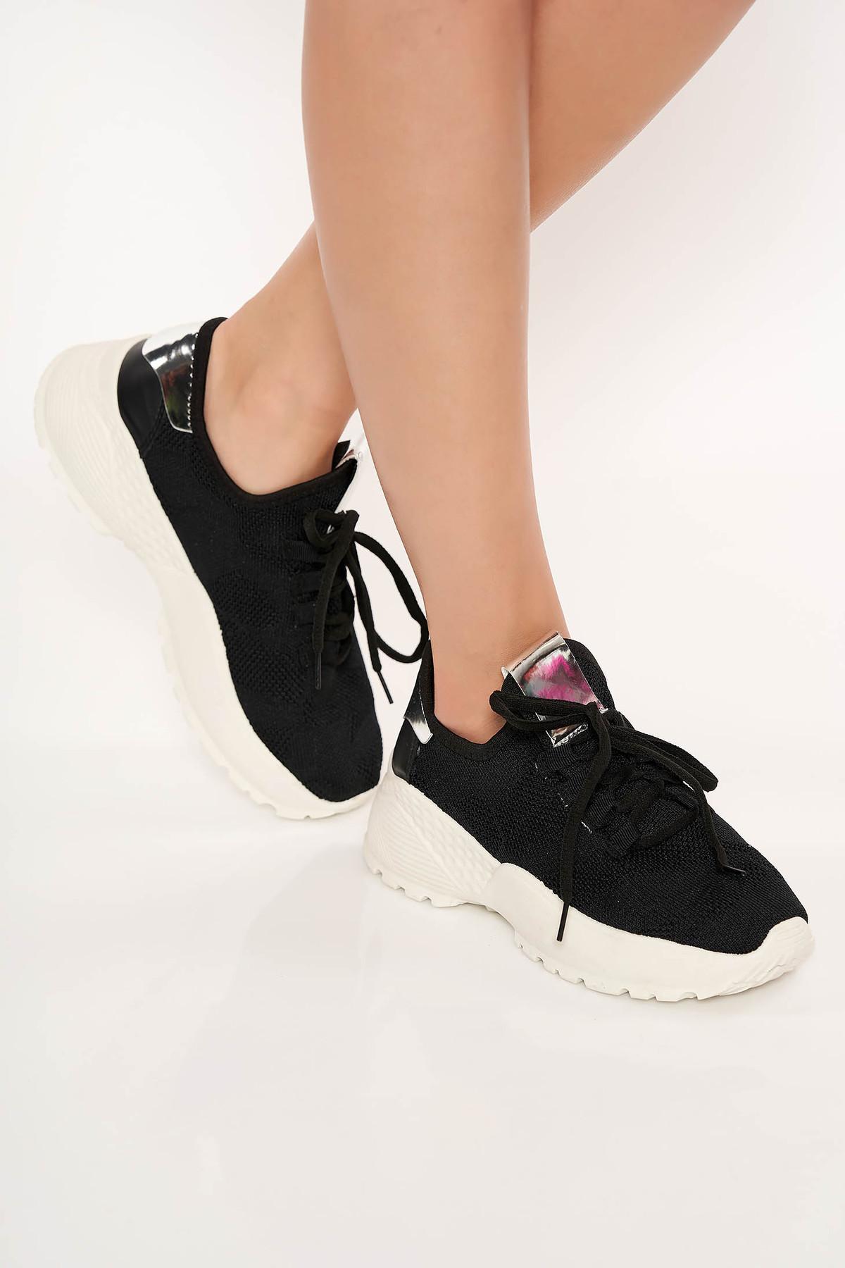 Pantofi sport negru cu siret