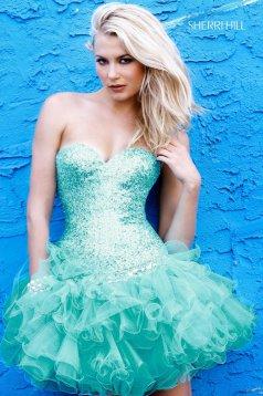 Rochie Sherri Hill Stunning Turquoise
