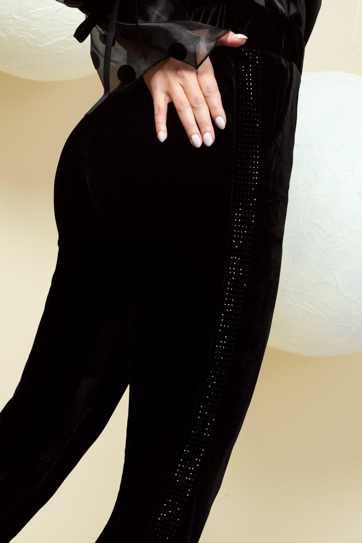 Pantaloni PrettyGirl negri eleganti lungi conici